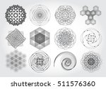sacred geometry symbols and... | Shutterstock .eps vector #511576360