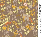 vector seamless pattern flowers ... | Shutterstock .eps vector #511577230