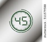 45 second timer | Shutterstock .eps vector #511579588