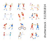 athletes kids set  sport... | Shutterstock . vector #511581814