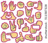 set of cartoon human hands... | Shutterstock .eps vector #511587328