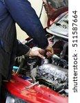 worker repairs a car in a car...   Shutterstock . vector #511587664