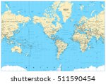 america centered world map.... | Shutterstock .eps vector #511590454
