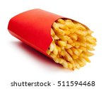 french fries in a red carton... | Shutterstock . vector #511594468