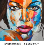 original oil painting on canvas ... | Shutterstock . vector #511595974