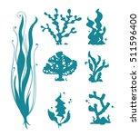 Underwater Sea Corals And Alga...