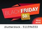 vector black friday sale banner | Shutterstock .eps vector #511596553