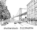 san francisco city hand drawn.... | Shutterstock .eps vector #511596994