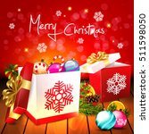 christmas. background with... | Shutterstock .eps vector #511598050