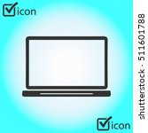 laptop icon. flat design style. ...