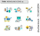 thin line flat icons pack for... | Shutterstock .eps vector #511601854