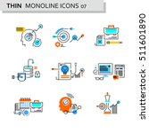 thin line flat icons pack for... | Shutterstock .eps vector #511601890