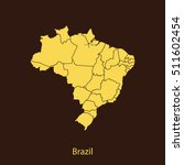 map of brazil | Shutterstock .eps vector #511602454