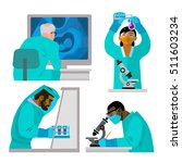 science concept set. doctors... | Shutterstock .eps vector #511603234