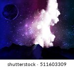 milky way galaxy in the starry... | Shutterstock .eps vector #511603309