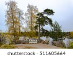 autumn landscape on the lake... | Shutterstock . vector #511605664