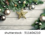 christmas background with... | Shutterstock . vector #511606210