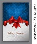 christmas card design   vintage ... | Shutterstock .eps vector #511610890
