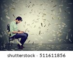 young man using a laptop... | Shutterstock . vector #511611856