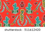seamless indian pattern. set of ... | Shutterstock .eps vector #511612420