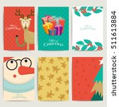 christmas greeting card... | Shutterstock .eps vector #511613884