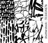set of black and white... | Shutterstock .eps vector #511614676