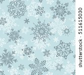 winter seamless pattern with... | Shutterstock .eps vector #511615030