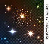 set of bright lights  stars ... | Shutterstock .eps vector #511620820
