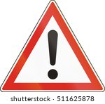 hungarian warning road sign  ... | Shutterstock . vector #511625878