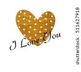 valentine's day glitter card in ...   Shutterstock . vector #511627918