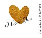 valentine's day glitter card in ... | Shutterstock . vector #511627924