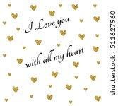 valentine's glitter card in... | Shutterstock . vector #511627960
