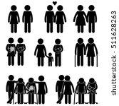 family generations bonding.... | Shutterstock .eps vector #511628263
