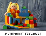 toy house and doll with blocks | Shutterstock . vector #511628884