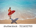 it's time for surfing  young... | Shutterstock . vector #511632703