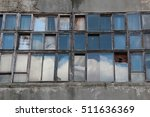 Old Window. Reflection Of The...