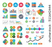 business charts. growth graph.... | Shutterstock .eps vector #511642444