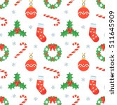 seamless flat christmas pattern ...