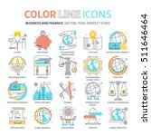 color line  business and... | Shutterstock .eps vector #511646464