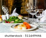 served for holiday banquet... | Shutterstock . vector #511649446