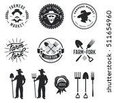 farmers market set of labels... | Shutterstock .eps vector #511654960