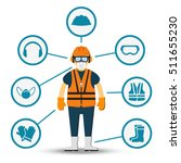 worker health and safety vector.... | Shutterstock .eps vector #511655230