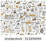 social network doodles... | Shutterstock .eps vector #511656040
