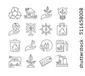 set of ecology related vector... | Shutterstock .eps vector #511658008