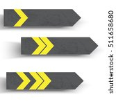 stripe arrow signs with shadow. ...   Shutterstock .eps vector #511658680