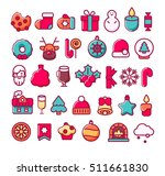 christmas icons. new year... | Shutterstock .eps vector #511661830