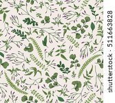 seamless floral pattern in... | Shutterstock .eps vector #511663828