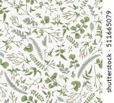 seamless floral pattern in... | Shutterstock .eps vector #511665079