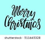 merry christmas. modern... | Shutterstock .eps vector #511665328