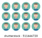 set of boy emotions. schoolboy... | Shutterstock .eps vector #511666720